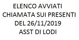 Elenco avviati selezione ASST di Lodi